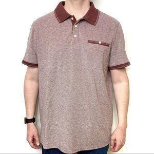 GOODFELLOW & CO Men's Burgundy Polo Shirts Size XL
